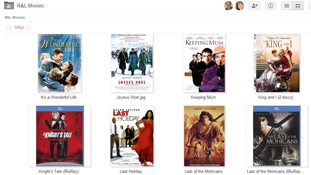 google drive movies list | Robert & Lori